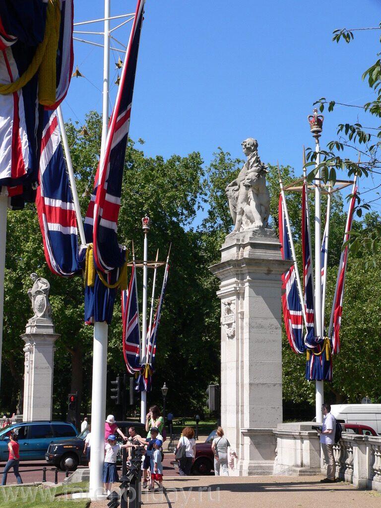 Англии украшающие улицу мэлл лондон
